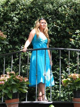 Heather on the Balcony