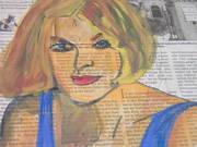 blonde & newspaper