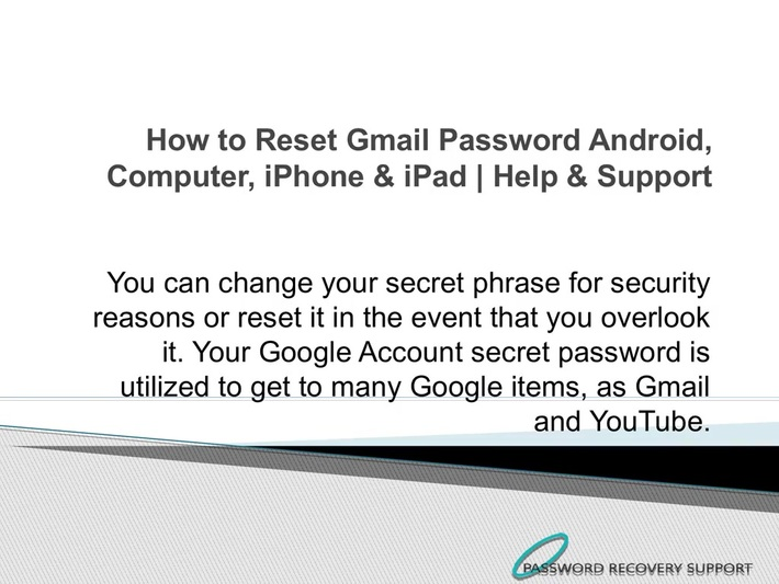 How to Reset Gmail Password