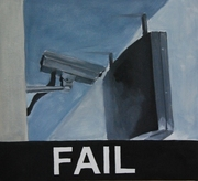 2008, leave me alone, 50x45 cm, oil on canvas