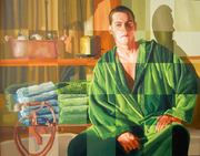 realistic art paintings realism art painting raphael perez israeli artist man portraits artworks male portrait artwork gay homosexual artists painters