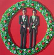 two men  Wedding gay couple love homosexual artworks painting queer art painter lgbt artistraphael perez