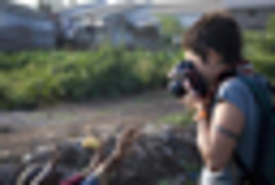 Detrás de cámara de los que andan con cámaras