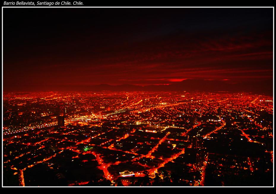 La ciudad de lava - Santiago de Chile Nocturna.
