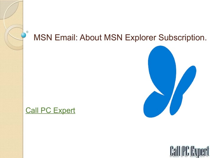 MSN Email-About MSN Explorer Subscription