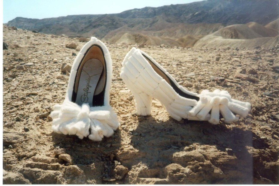 tampon shoes, mohave desert