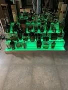 Green bottle display