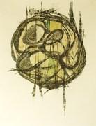 Amarrado al Tiempo-gouache,carboncillo-18x24-2008