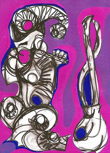 """El flautista"" (2004) Serie:""Guardianes"""