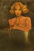 6-Marlene Dietrich por Carmen Luna