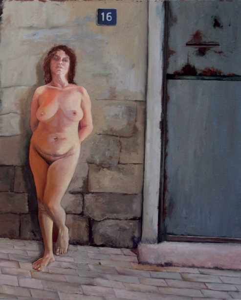 naked,my home, 110x90 cm' oil on canvas,