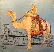 on the cammel 200x180 cm' oil on canvas