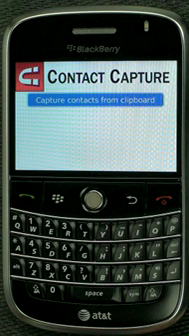 Contact Capture for Blackberry