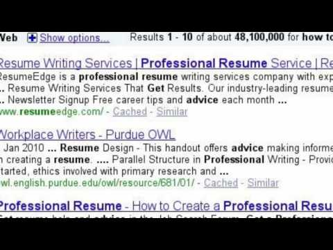 Resume Writing and more . . .