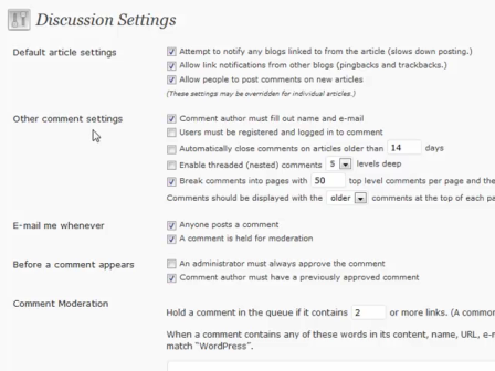WordPress for Blogging Part 5: discussion settings