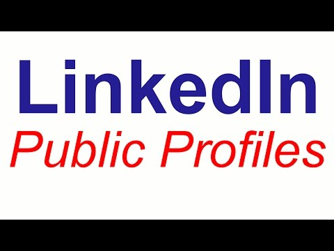 Changes to LinkedIn Public Profiles