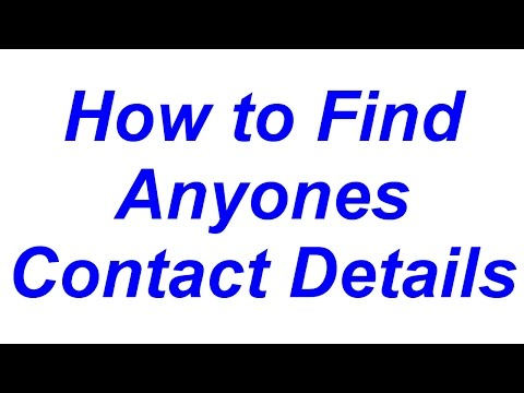 Finding Contact Details