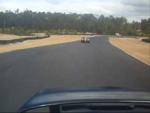 Porsche 968 Turbo RS chasing 997 Turbo RS at Collie Race Track in Western Australia