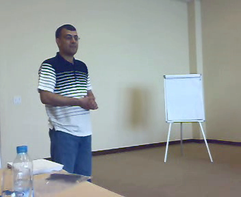 Nidal speaking in Jordan
