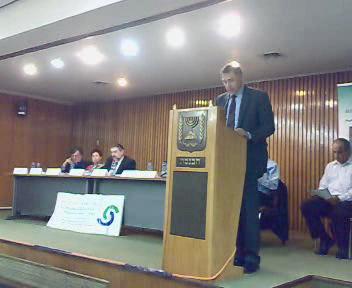 US ambassador Richard Jones at Knesset - Nov 12, 07