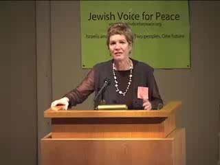 Anat Biletzki of B'Tselem speaks at Jewish Voice for Peace