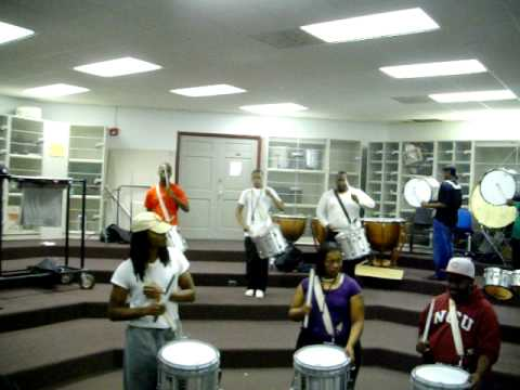 NCCU's percussion section D.O.A. Playing L.M.N.O.