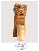 KARYA 18 - Manusia Hewan, kayu jati,80x35cm,2008(a)