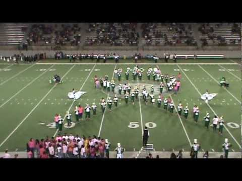 JEFF DAVIS MARCHING BAND (HOMECOMING SHOWING TRIBUTE TO BREAST CANCER SURVIVORS) 2012.MPG