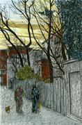Alley Twilight, Cobble Hill, Brooklyn