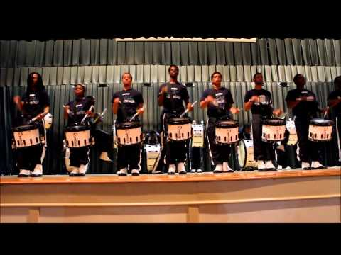 Whitehaven High School BOTD 2013:Jackson St. War & Thunder Percussion Feature Pt.1