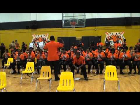 FAIRLEY HIGH BAND WARM UP 2013