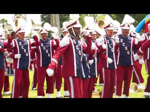 "2015 SCSU Marching 101 performing ""Best Band"" at Disney's MEAC/SWAC CHallenge Pep Rally"