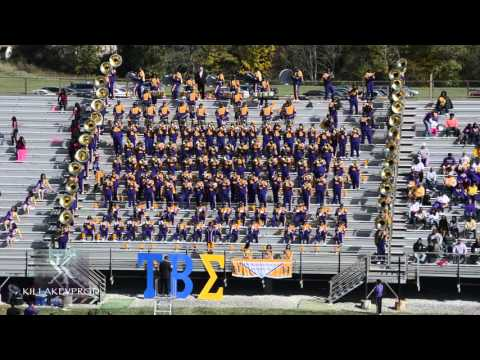 Miles College Marching Band - Post Halftime Stands - 2015