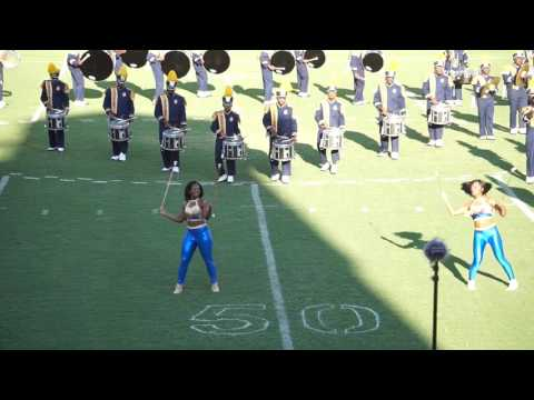 "2016 Blue & Gold Marching Machine Performing ""Grapevine"""