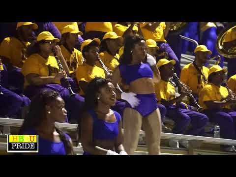 "Miles College ""Purple Marching Machine"" performing  ""What's My Name?"""
