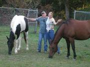 Terry and Lisa with Buddy and Trooper