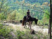 Lynn P. riding Zoro East Fork April 08
