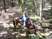my mife and her horse doc in cades cove