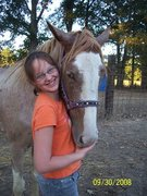 my daughter erin with my horse rebel