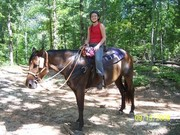 my daughter erin on ginger at natchez trace