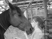 my daughter erin and her horse ginger