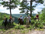 Trail ride at East Fork