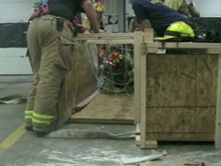 District 8 Firefighter Training Entanglement Drill