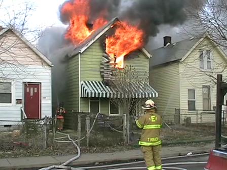 Evansville Indiana northside residential fire