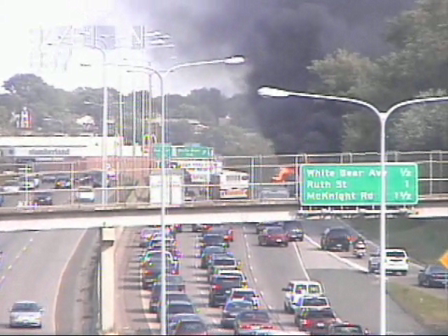 Car Fire Explosion