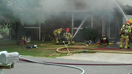 Limestone and Owasso FD at house fire July 28 2009