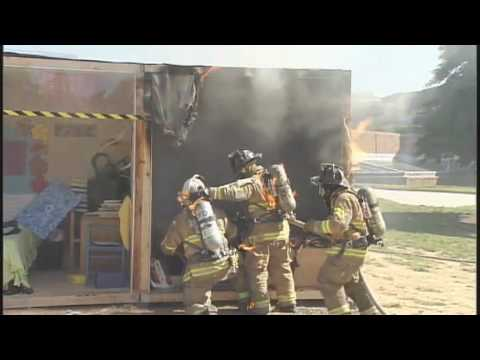 STATter911.com: Firefighters catch fire at sprinkler demo