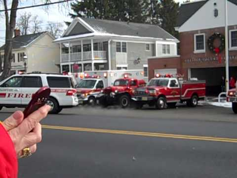 Chester Fire Ringing In The New Chief 2010 Leaving Station