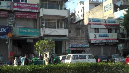 Market area Delhi India