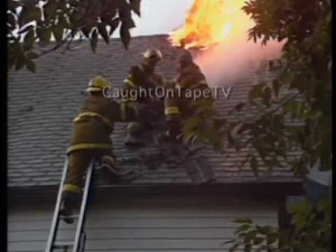 FIREMAN RESCUED FROM BURNING HOME!